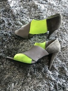 UNITED NUDE Multi Colour Suede Canvas Sandals Size 39
