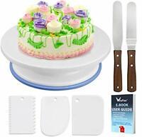 WisFox Cake Plate Rotating Cake Stand Cake Turntable Cake Decorating Turntable