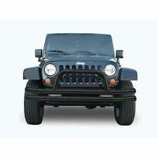 Rampage 86620 Double-Tube Front Bumper Black w/ Hoop fits 07-12 Wrangler 2/4-DR