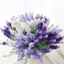 1 Bunch Artificial Fake Lavender Flower Leaf Bouquet Wedding Home Party Decor