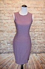 Modcloth An Office You Can't Refuse Dress NWT 6 Purple textured sheath Closet