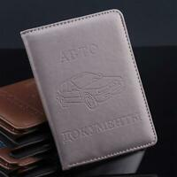 RPU Leather on Cover for Car Driving Documents Card Holder For Men