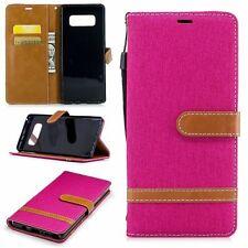Tasche für Samsung Galaxy Note 8 Jeans Cover Handy Schutz Hülle Case Pink Neu
