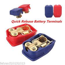12V/24V QUICK RELEASE SNAP ON CAR VAN TRUCK BATTERY CONNECTORS TERMINALS CLAMPS