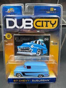 Jada Dub City 1/64 1957 Chevy Suburban blue