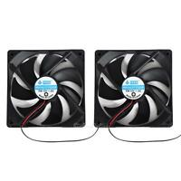 2pcs 120mm 120x25mm 12V 4 Pin DC Brushless PC Computer Case Cooling Cooler Fan