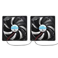 2pcs 120mm 120x25mm 12V 4 Pin DC Brushless PC Computer Case Cooling Cooler Fan