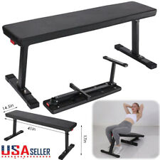 Weider Strength Flat Weight Bench with Sewn Vinyl Seats Home Workout Fitness Gym