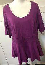 Autograph Ladies Plus Size 16 Purple Stretch Blouse Top EUC Business Casual