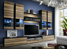 Modern Wall Unit Tv Display Living Room High Gloss Led Furniture Dorade Free P&P