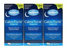 Hylands Calms Homeopathic Forte Sleep Aid 100 Tablets (3 Bottles = 300 Tablets)