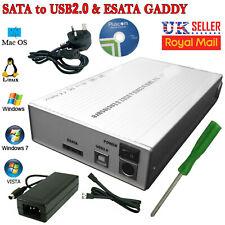3.5'' SATA Aluminium USB 2.0 External Hard Drive Caddy Case Enclosure HDD Laptop