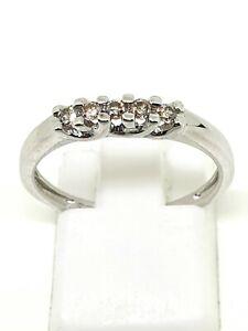 9ct white gold green sapphire half eternity ring size n½ full hallmarked