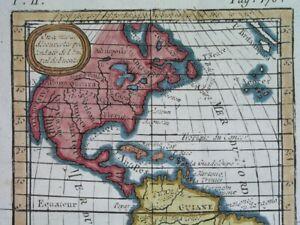 1797 RARE ORIGINAL MAP UNITED STATES CANADA MEXICO CUBA AMERICA FLORIDA TEXAS