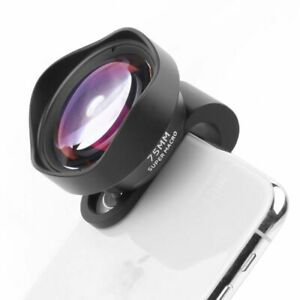 Phone Camera Lens 17MM Thread 10X Macro 75MM Clip Android For iPhone 11 Pro Max