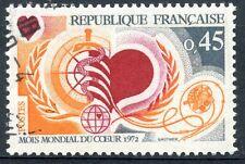 STAMP / TIMBRE FRANCE OBLITERE N° 1711 MOIS MONDIAL DU COEUR