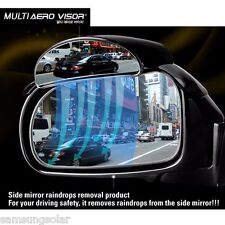 2PCS Multi Aero Visor Side View Blind Spot Mirror Rain Blower For Universal Car