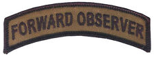 Forward Observer Embroidered Tab - FO - Artillery Spotter - US Army - USMC