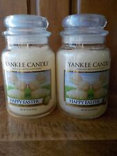Yankee Candle HAPPY EASTER WHITE CHOCOLATER BUNNIES 22 oz Jar Candles