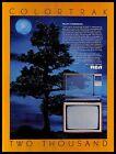 1983 RCA Colortrack 2000 Television Vintage PRINT AD Moonlight Tree Art 1980s photo