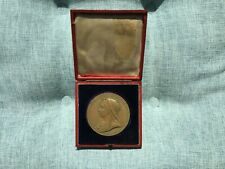 VICTORIA  1897 LARGE BRONZE DIAMOND JUBILEE MEDAL 1837 - 1897 - BOXED