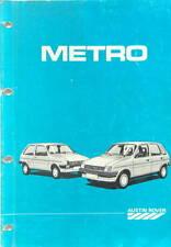 1988 AUSTIN ROVER METRO  MANUEL DE REPARATION EN FRANCAIS