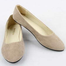 Womens Ballerina Ballet Dolly Pumps Slip On Flat Boat Loafers Casual Shoes Size