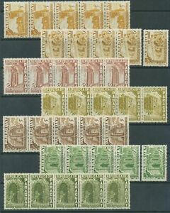 [PG88] Paraguay 55 Complete set and airmail set VF MNH stamps 5x - $60