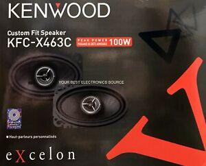 "NEW Kenwood KFC-X463C Excelon Series 4""x6"" 2-Way Coaxial Car Speakers 4x6 (PAIR)"