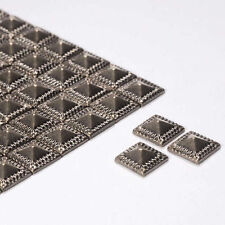 Diamante Me Hematite Square Pattern Metallic Rhinestones Iron On 100 per pack