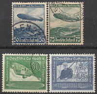 Stamp Selection Germany WWII 3rd Reich Airship Hindenburg Graf Zeppelin Set U