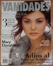APRIL1 5 2005 VANIDADES CHILE MAGAZINE, MARY DONALDSON, CONSTANZA SILVA