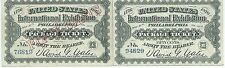 1876 Expo Tickets Philadelphia Pennsylvania 50 Cents United States Two Kinds