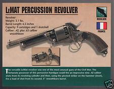 LeMAT PERCUSSION REVOLVER U.S. Civil War Confederate Gun Jeb Stuart PHOTO CARD