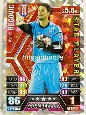 Match Attax 2013/14 Premier League - #253 Asmir Begovic - Star Player