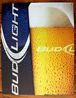 Tin Sign Advertising Budweiser Beer Anheuser Busch Ad Modern Frosty Glass
