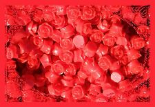 20 Rose Cabochon Siren Red Roses Resin Retro Flower 10mm Gorgeous Flatback