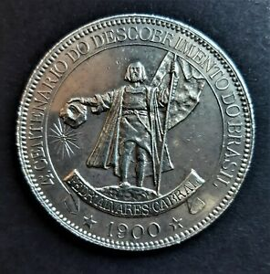 Brazil/ 4000 Reis 1900/ Pedr´Alvares Cabral/ KM.502.1/ SILVER COIN