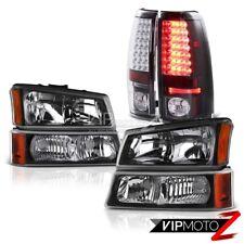 Headlight Bumper Black Brake LED Tail Light 03 04 05 06 Silverado DuraMax 6.6L