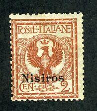 Italy - Aegean Islands - Nisiro, Scott #1, Italy #77 w/Overprint, 1912, MNH