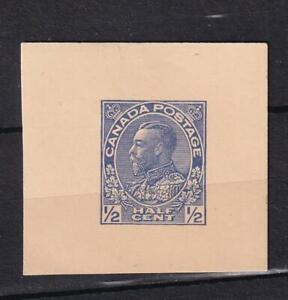 Canada KGV 1/2¢ unused postal card corner, sc#UX26, 1912-1929