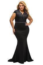 Black Plus Size Rhinestone Bodice Evening Cocktail Party Dress Size XL XXL XXXL