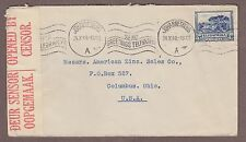 WWII Opened by Examiner 1940 South Africa Suid Africa Cover Censored to USA