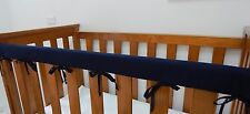 1 x Baby Cot Rail Cover Crib Teething Pad - Navy -  100% Cotton   - **REDUCED***
