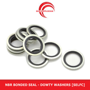 """NBR Bonded Seal - 1/4"""" BSP - Dowty Washers [Self Centralising]"""