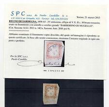 ANTICHI STATI 1858/63 SARDEGNA 10 C. BARBERINO DI MUGELLO C/3017