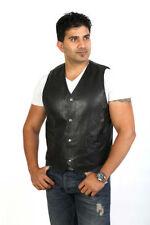 Popper Leather Regular Size Waistcoats for Men