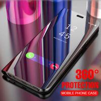 For Samsung Galaxy S8 S9 S10 Plus 10+ S10e Note 8 9 Mirror Flip Clear Case Cover