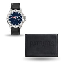 NFL New England Patriots Mens Leather Watch/Wallet Set Style# GC4832 $60.90