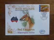 2005 AUSTRALIA BUSH WILDLIFE RED KANGAROO ALPHA P&S FDC